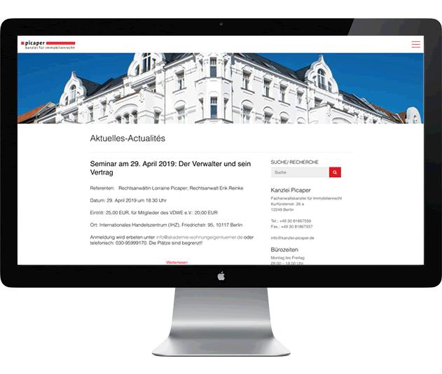 Kanzlei Picaper - Fachanwältin für Immobilienrecht - Berlin